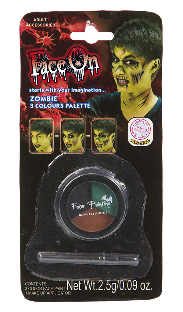 Face-On Zombie Makeup Kit
