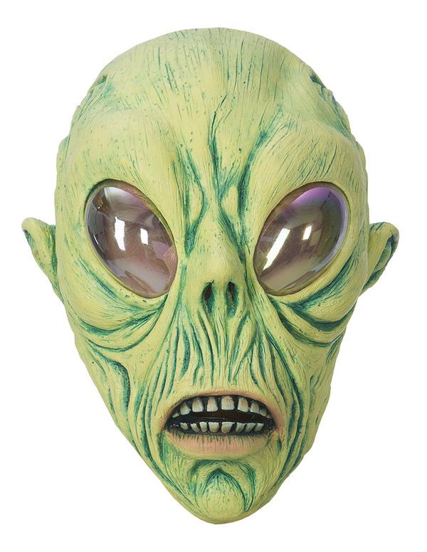 Grön Alien Mask