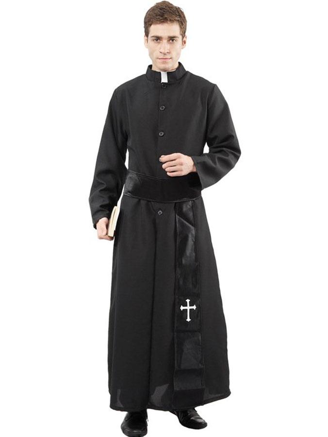 Katolsk Präst Kostym Maskeraddräkt