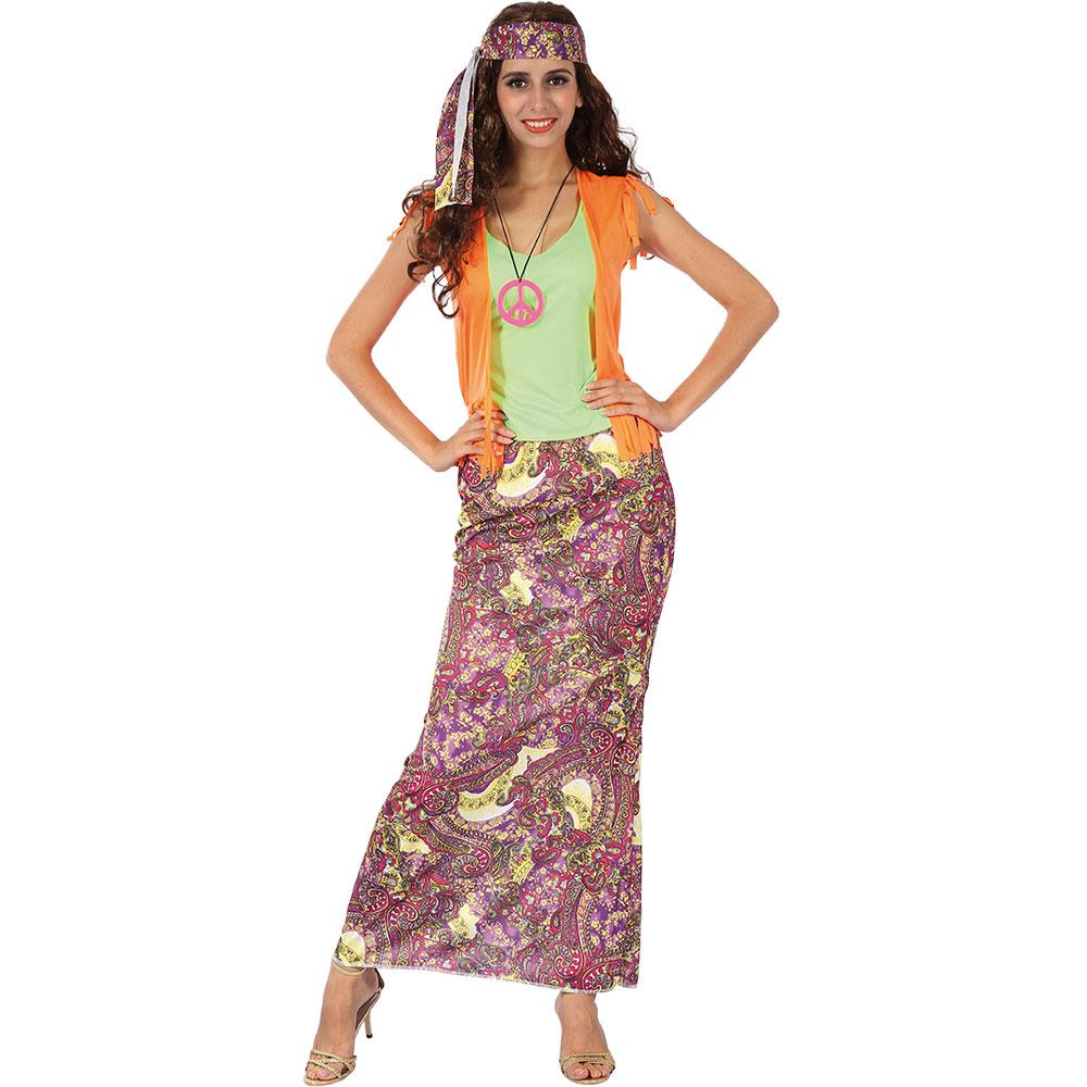 Kvinnlig Hippie Maskeraddräkt