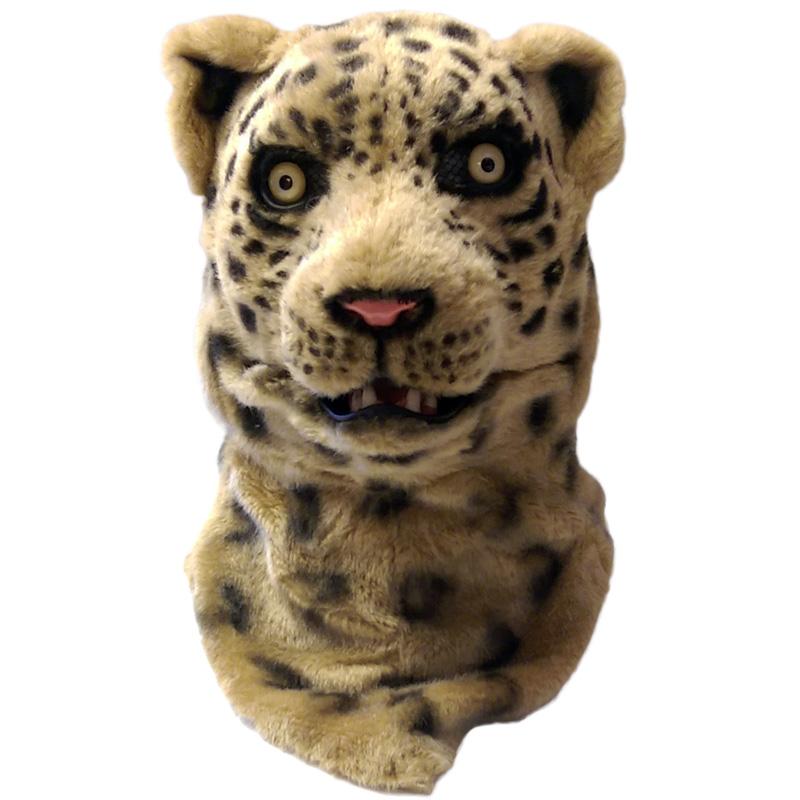 Leopard Mask Deluxe med Rörlig Mun