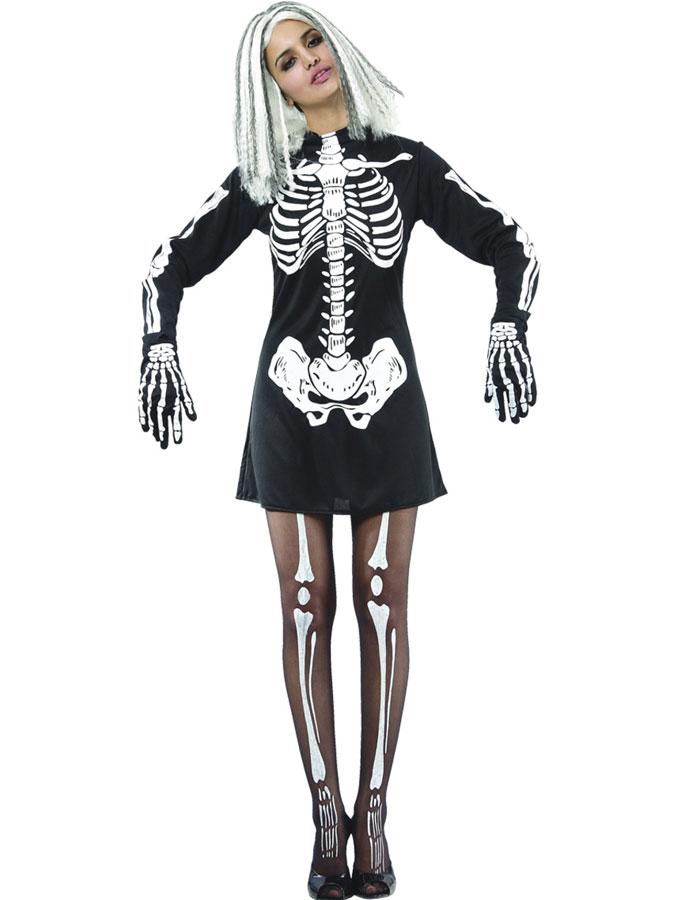 Skelett Klänning Maskeraddräkt