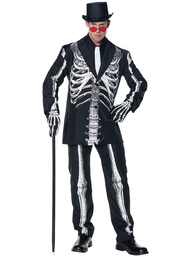 Skelett Kostym Maskeraddräkt (Small/Medium)