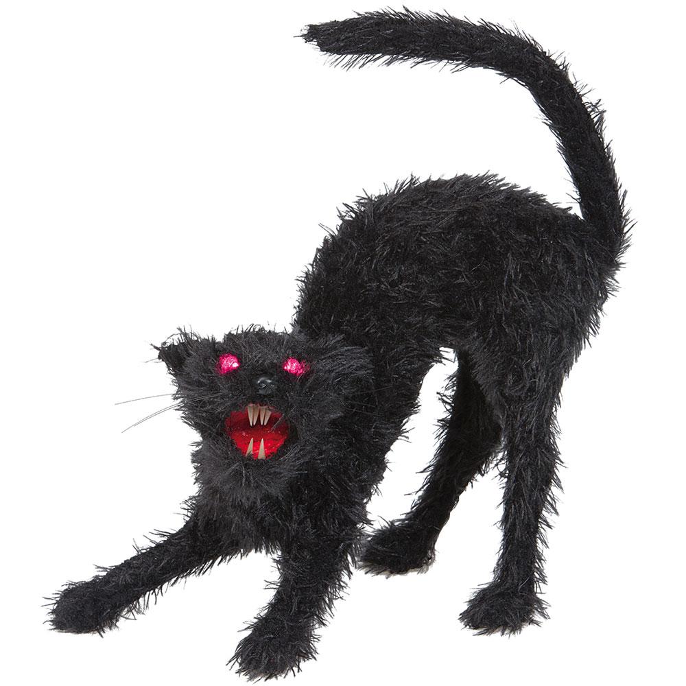 Skrämmande Katt Dekoration med Ljud