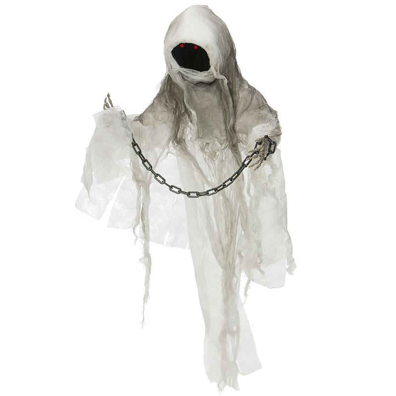 Spöke Vitt med Kedja Prop