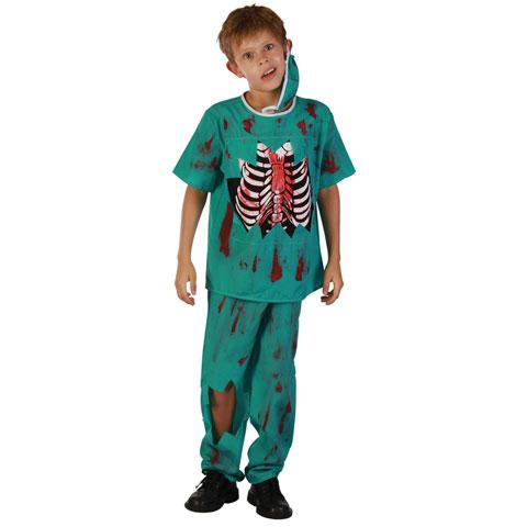Zombie Doktor Barn Maskeraddräkt (Medium)