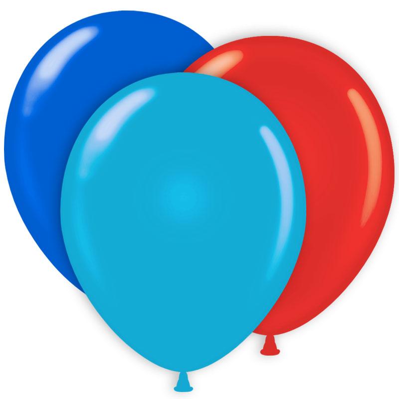 Ballongkombo Ljusblå/Röd/Blå
