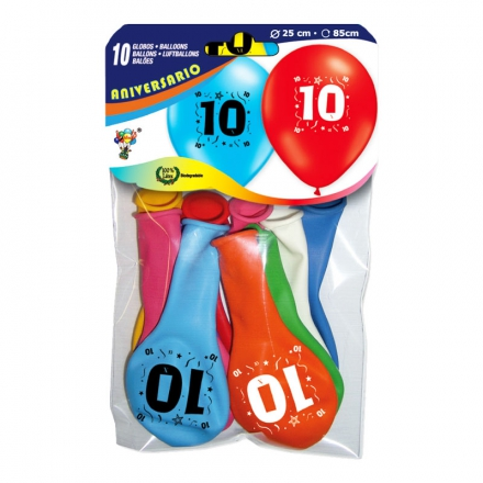 Latex Sifferballonger 10