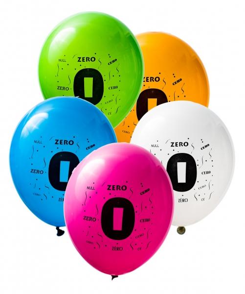 Latex Sifferballonger Noll