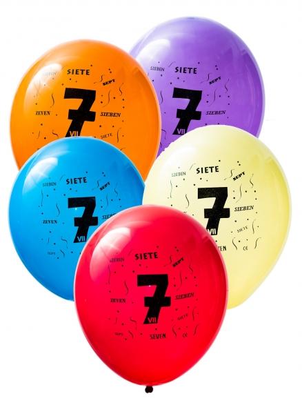 Latex Sifferballonger Sju
