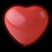 LED Ballonger Hjärtan Röda