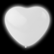 LED Ballonger Hjärtan Vita
