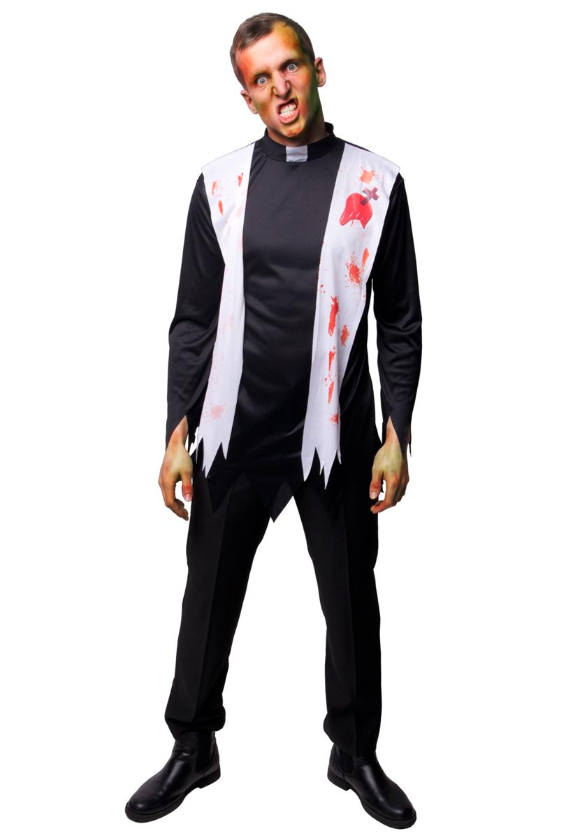 Präst Zombie Kostym Maskeraddräkt
