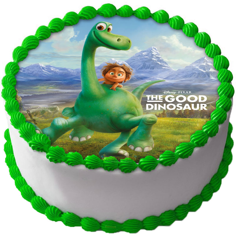Dinosaurie - Den Gode Dinosaurien Tårtbild A