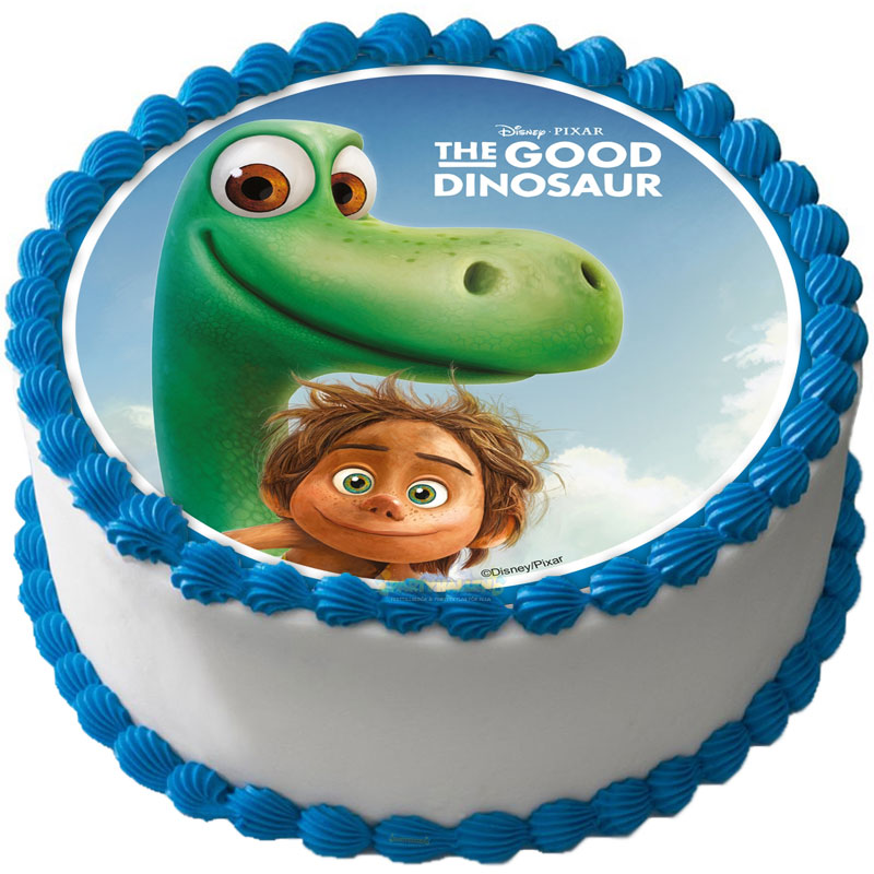 Dinosaurie - Den Gode Dinosaurien Tårtoblat D