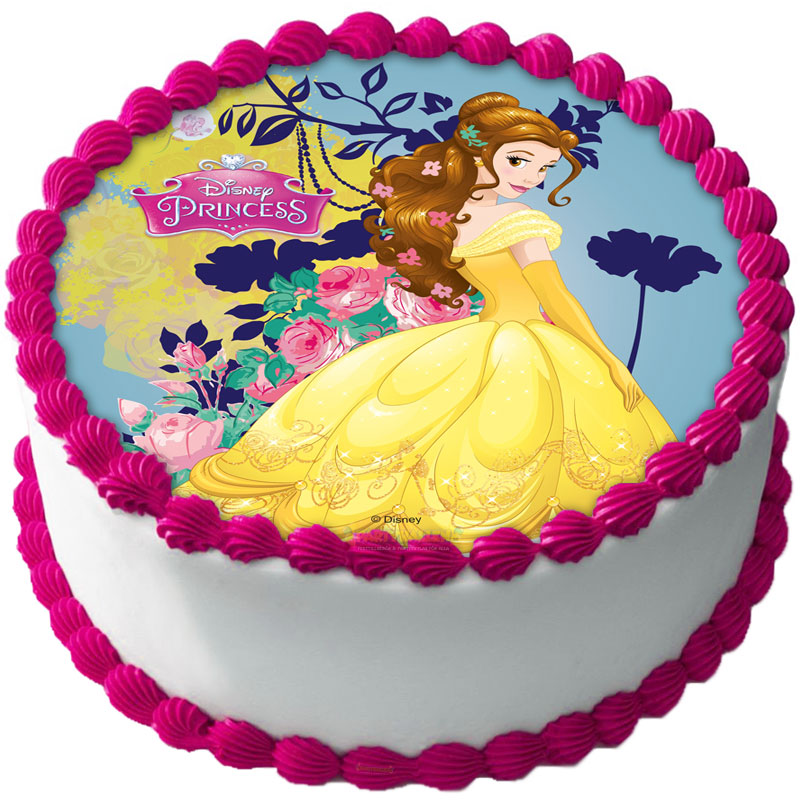 Disney Prinsessor Tårtoblat Sockerpasta B