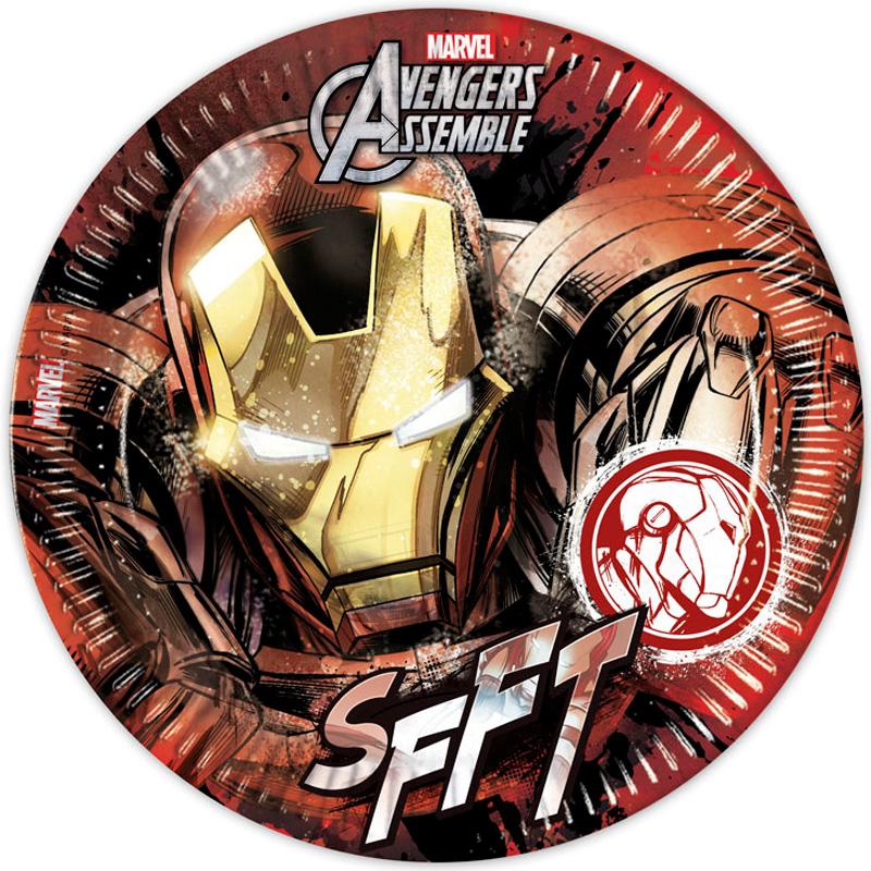 Avengers Iron Man Papptallrikar