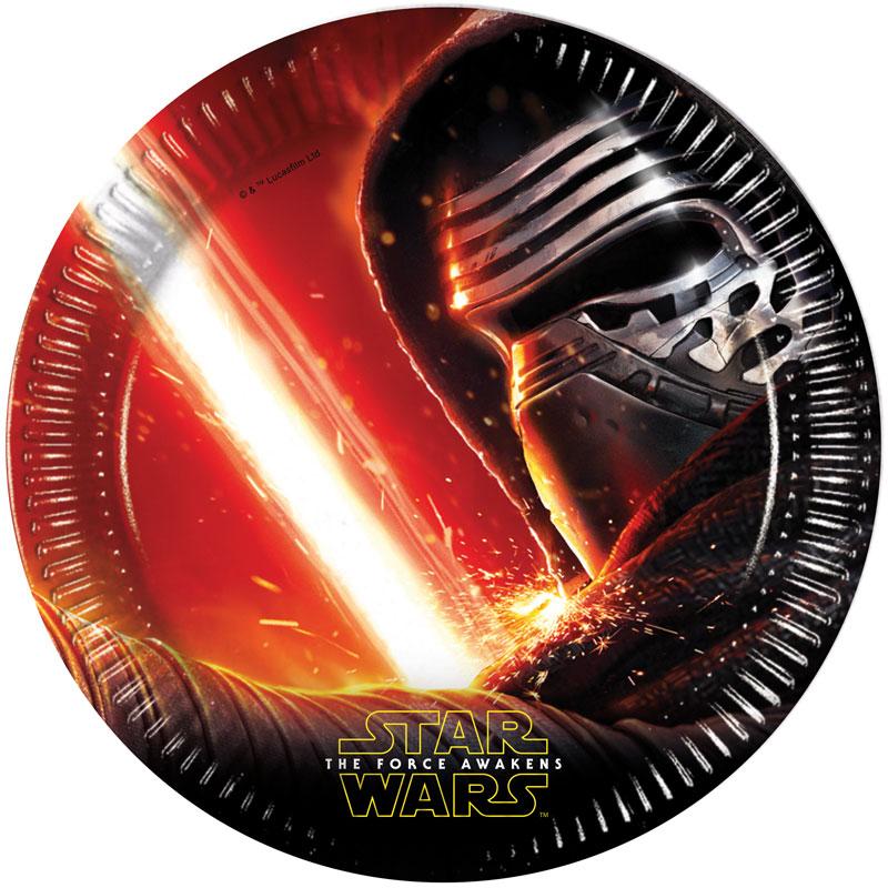 Star Wars The Force Awakens Papptallrikar