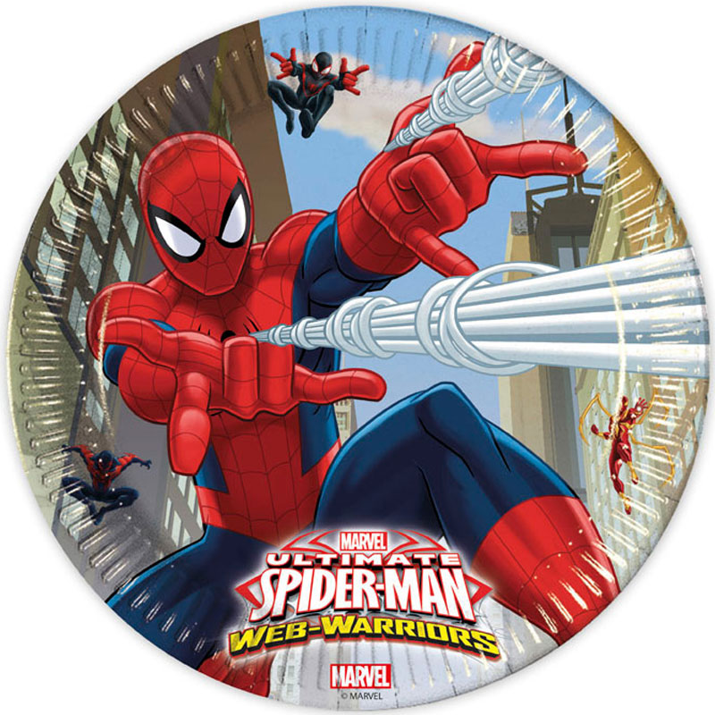 Ultimate Spider-Man Web Warriors Papptallrikar