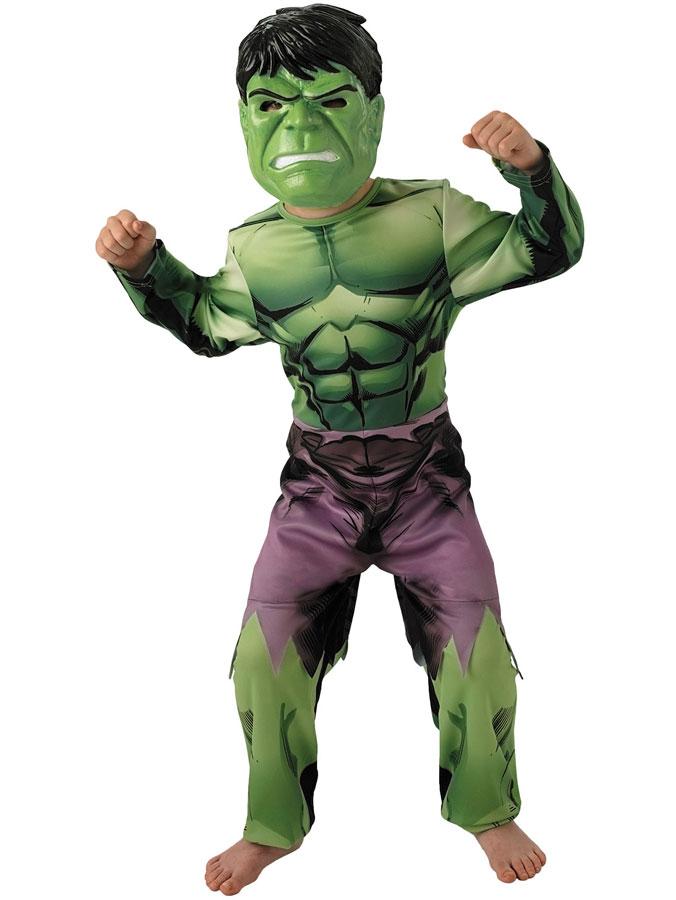Avengers Hulken Dräkt Barn Deluxe (Small (3-4 år))