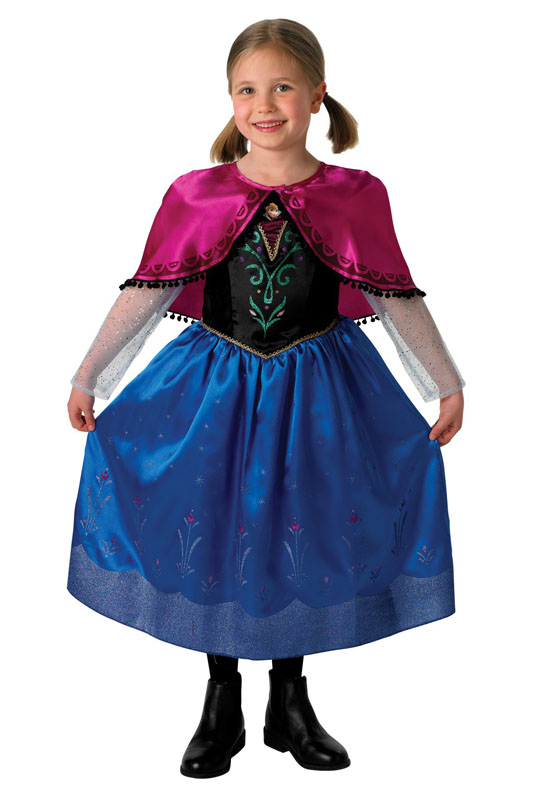 Frost Anna Deluxe Barn Maskeraddräkt (Small (3-4 år))