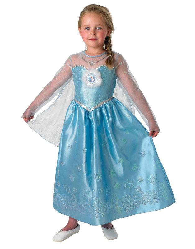 Frost Elsa Deluxe Barn Maskeraddräkt (Small)