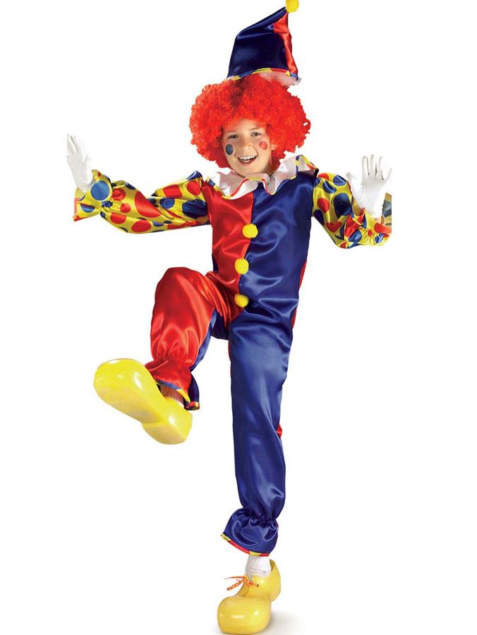 Magisk Clown Barn Maskeraddräkt (Small)