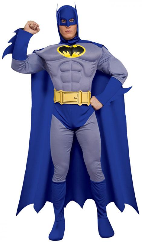 Muskulös Brave And Bold Batman Maskeraddräkt (Small)
