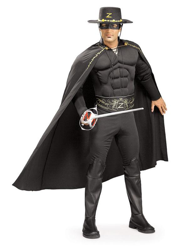 Muskulös Zorro Maskeraddräkt (Standard)
