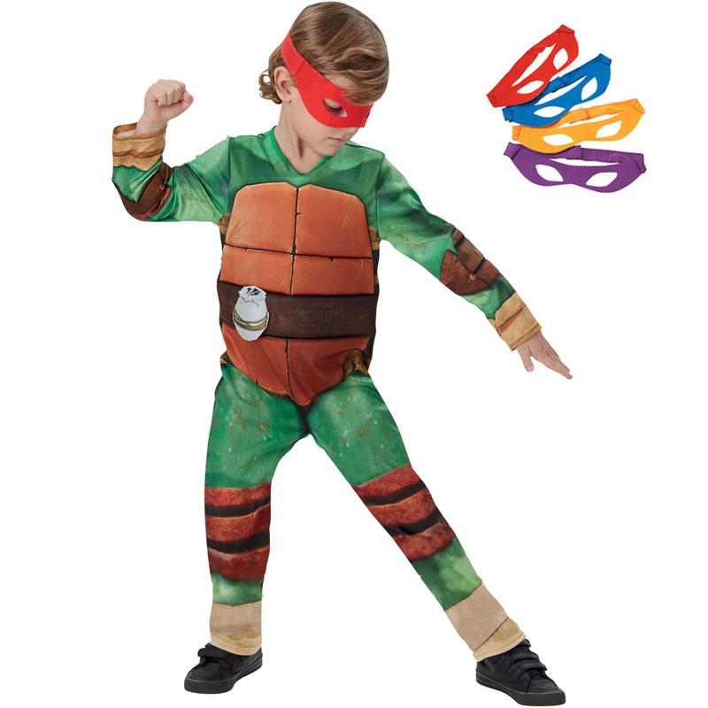 Ninja - Ninja Turtles Dräkt Barn (Small)