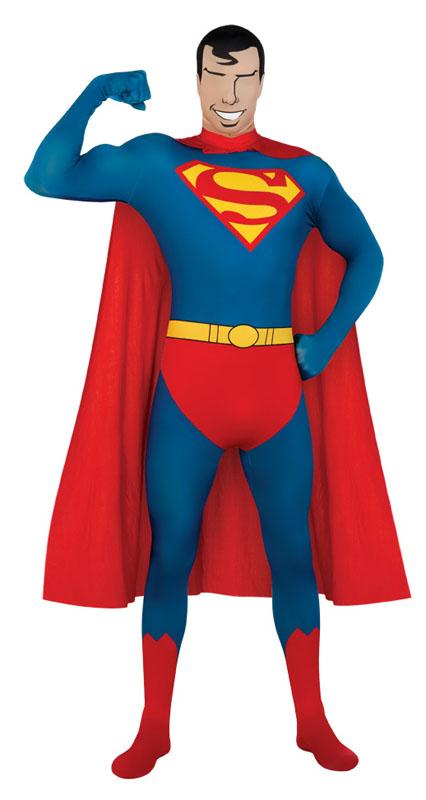 Second Skin Superman Maskeraddräkt (Medium)
