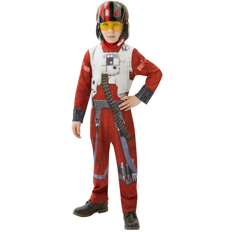 Star Wars Poe Dameron Barn Maskeraddräkt (Medium)