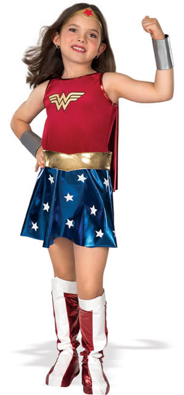 Wonder Woman Barn Maskeraddräkt (Small)