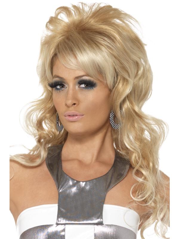 60-tals Lång Blond Peruk