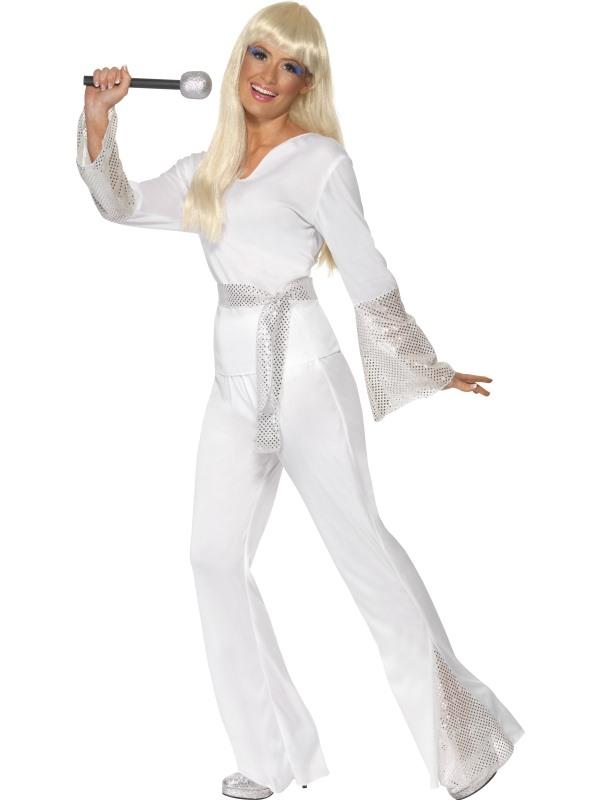 70-tals Disco Kostym Maskeraddräkt (Small)