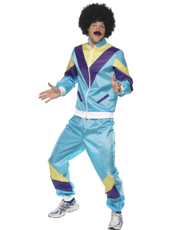 80-tals Shell Suit Maskeraddräkt (Medium)