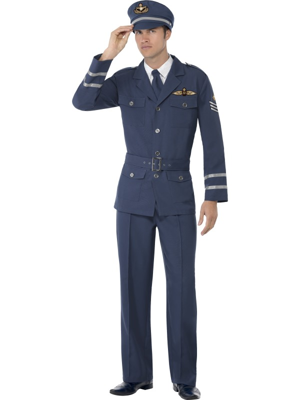 Air Force Pilot Kostym Maskeraddräkt (Medium)