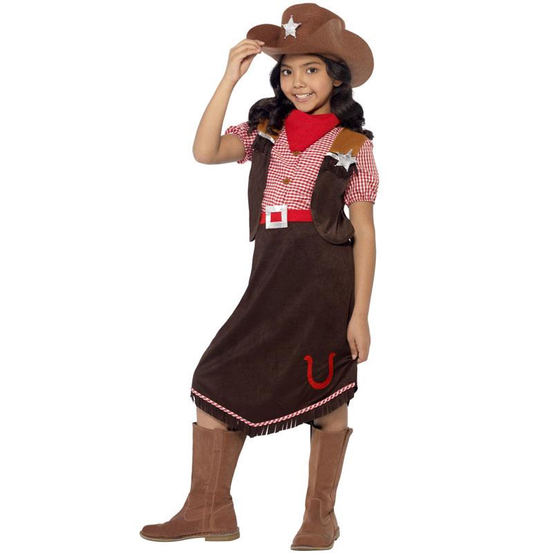 Cowgirl Maskeraddräkt Deluxe (Small)