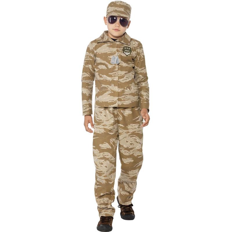 Desert Soldat Maskeraddräkt Barn (Small)