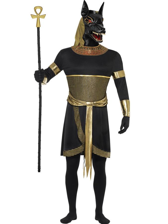 Egyptiska Guden Anubis Schakal Maskeraddräkt (Medium)
