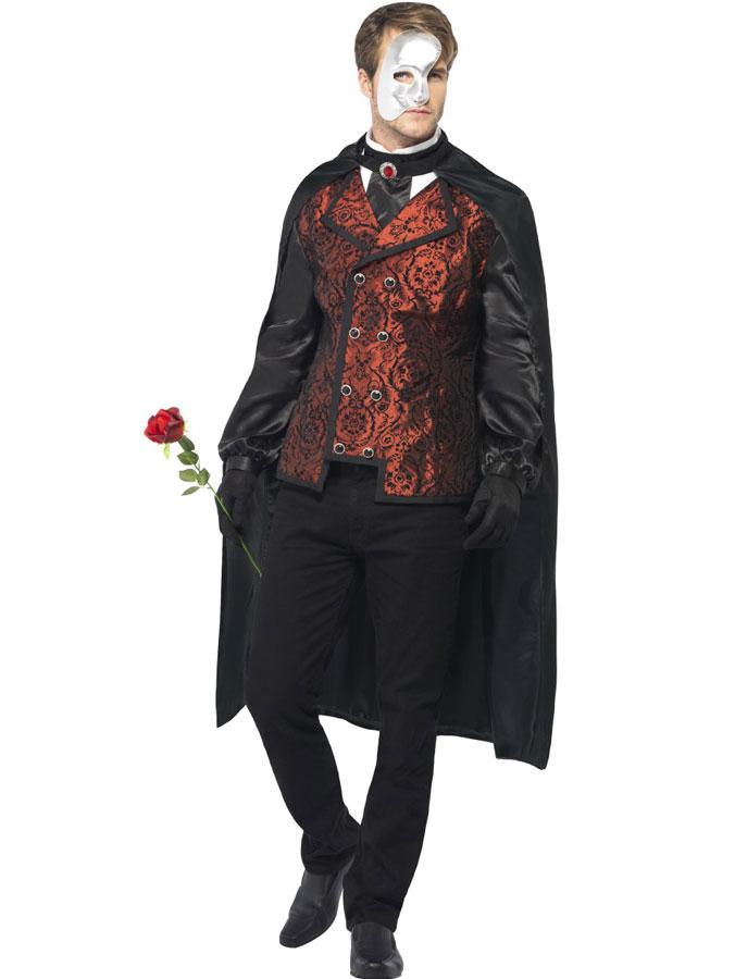 Fantomen På Operan Kostym Maskeraddräkt (Medium)