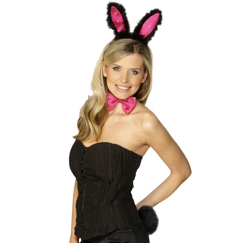 Kanin-produkter - Kanin Tillbehörskit Rosa/Svart