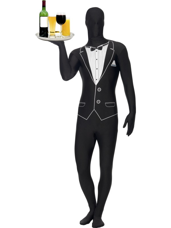 Second Skin Tuxedo Kostym Maskeraddräkt (Medium)