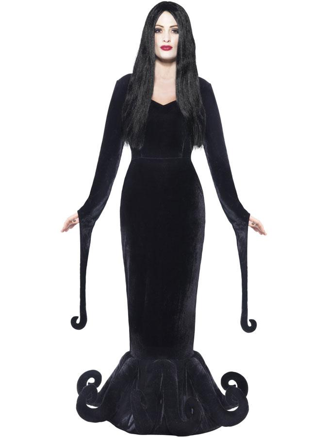 Morticia Addams Klänning Maskeraddräkt (Small)