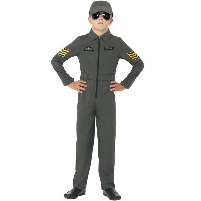 Pilot Barn Maskeraddräkt (Small)