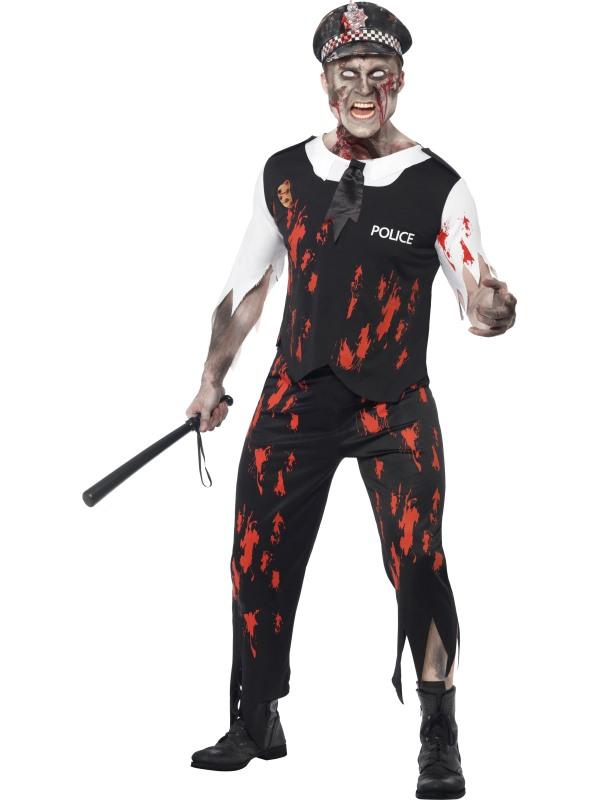 Polis Zombie Maskeraddräkt (Medium)