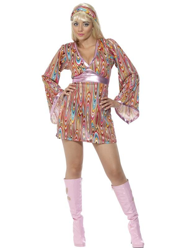 Hippieklänning Maskeraddräkt (Small)