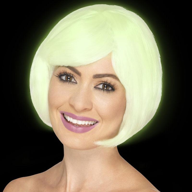 Självlysande 20-Tals Blond Peruk