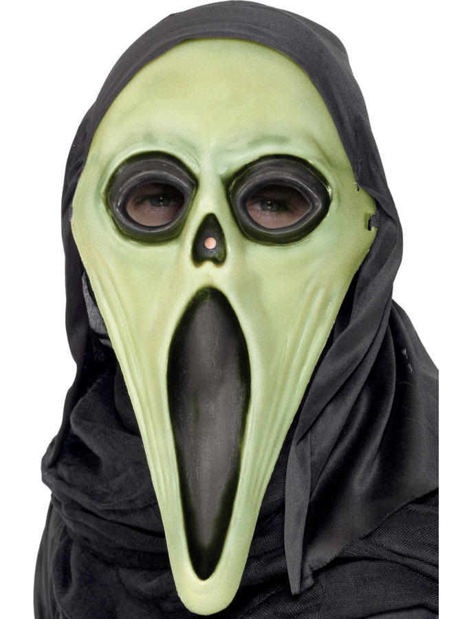 Självlysande Scream Mask