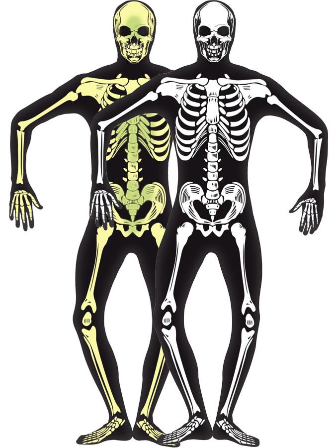 Självlysande Skelett Dräkt (Small)